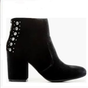 G by Guess velvet ankle booties